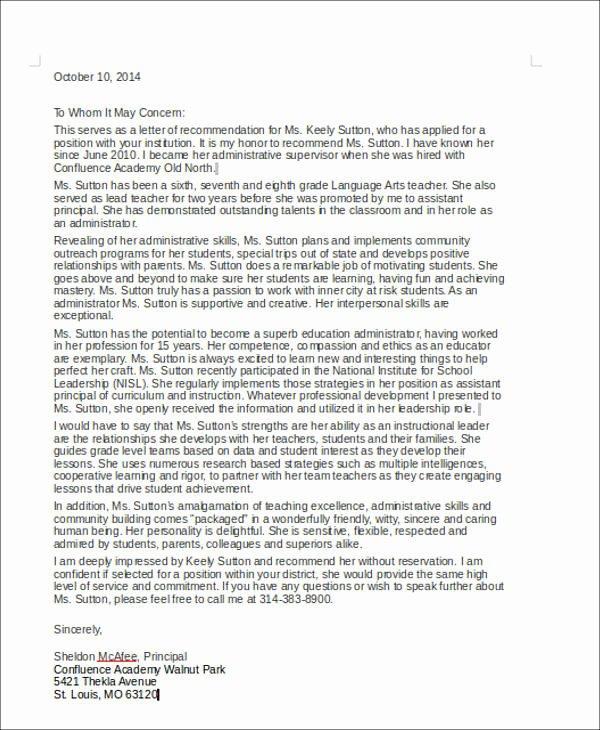 Sample Recommendation Letter for Coworker Lovely 6 Coworker Re Mendation Letter Samples Examples Templates