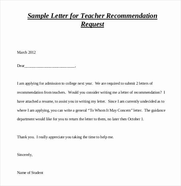 Sample Recommendation Letter for Teacher Elegant How to Write A Letter Re Mendation for A Teacher