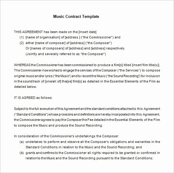 Sample Record Label Contract Best Of 20 Music Contract Templates Word Pdf Google Docs