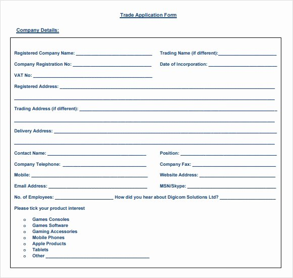 Sample Reference Check form Elegant 6 Sample Trade Reference Templates Pdf