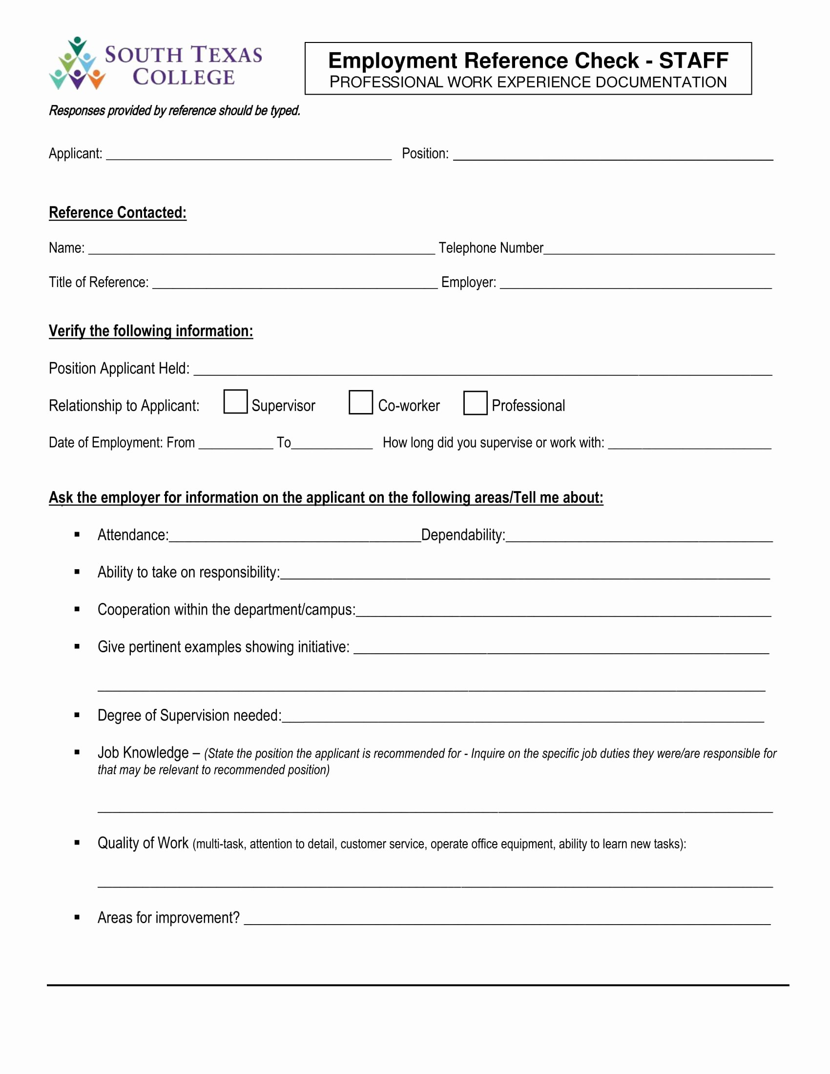 Sample Reference Check form Luxury 14 Reference Check forms Free Pdf format Download