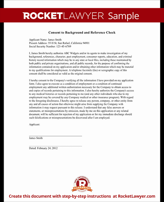 Sample Reference Check form Unique Background Check Authorization form Template with Sample