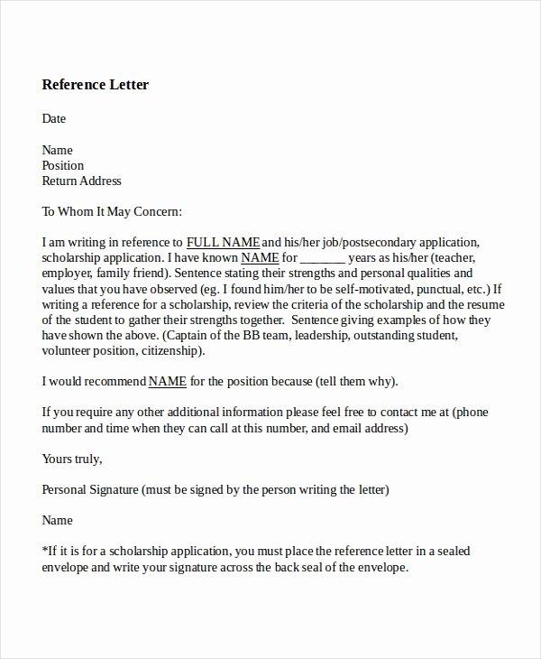 Sample Reference Letters for Teachers Elegant 8 Reference Letter for Teacher Templates Free Sample