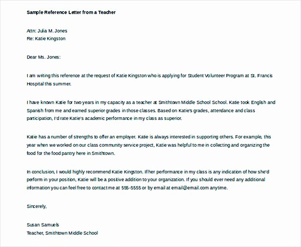 Sample Reference Letters for Teachers Inspirational Understanding Professional Letter format