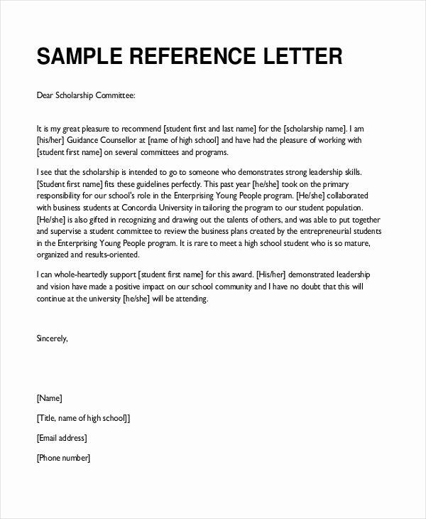 Sample Reference Letters for Teachers Lovely Free 7 Sample Teacher Re Mendation Letters In Pdf