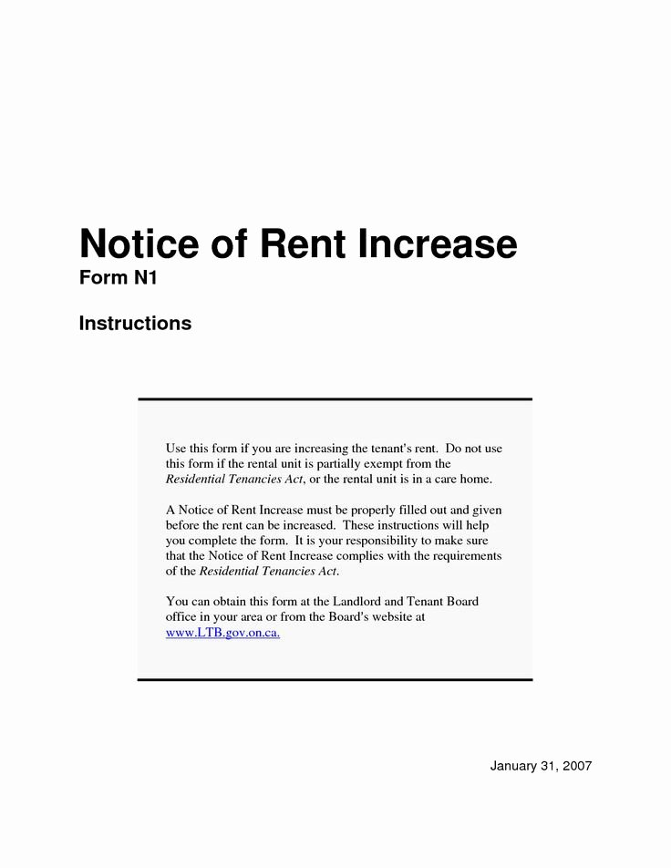 Sample Rent Increase Letter Fresh Notice Of Rent Increase Sample Google Search