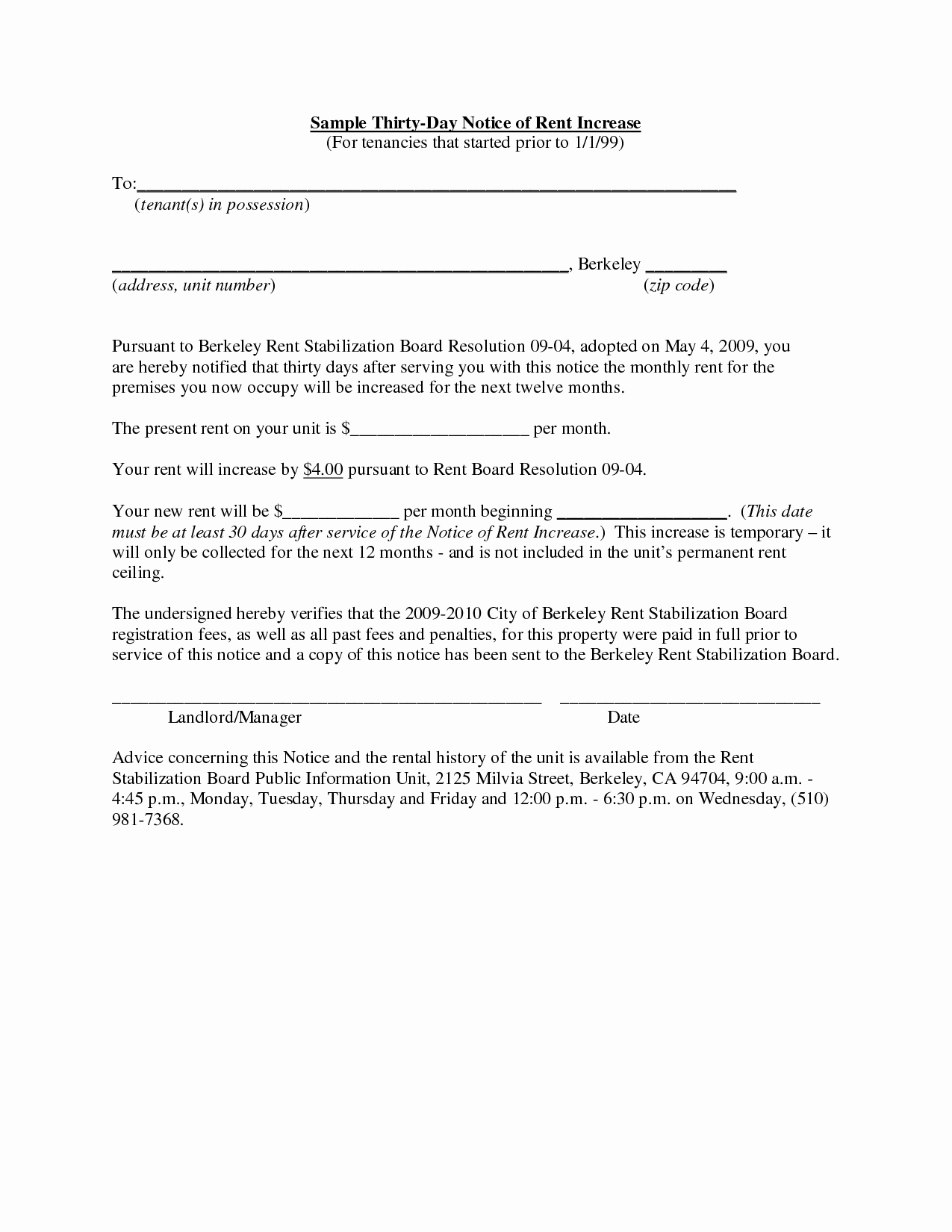 Sample Rent Increase Notice Elegant Best S Of Rent Increase Letter to Tenant In