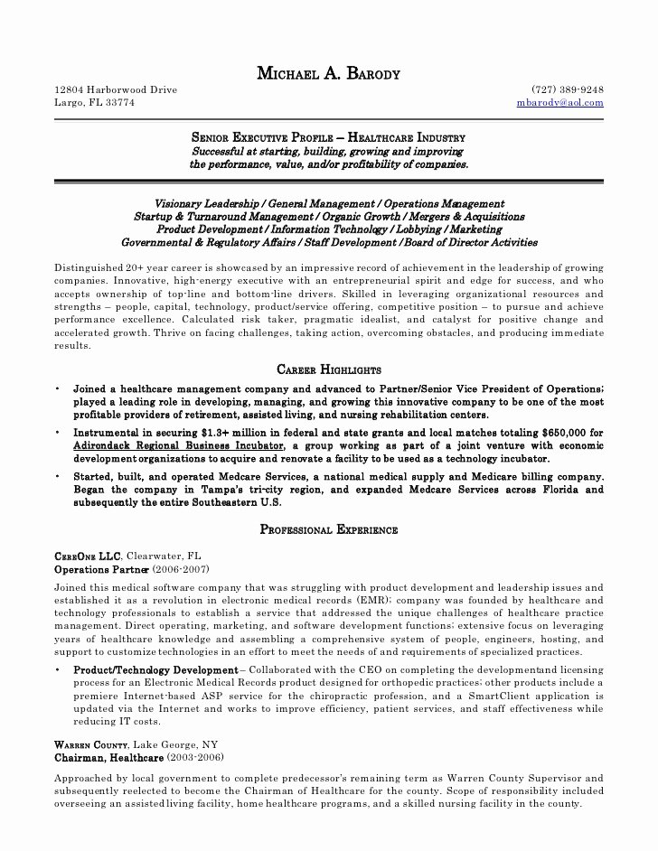 Sample Resume for Child Care Unique Michael Barody Resume