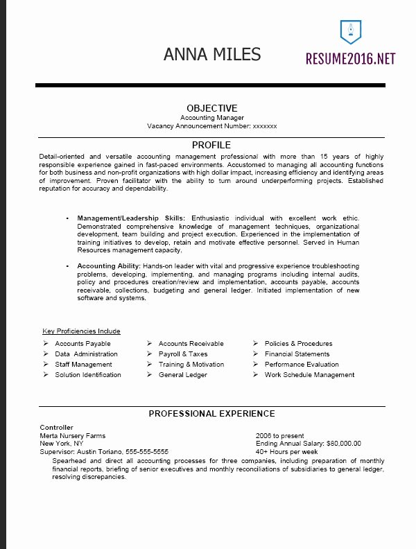Sample Resume for Federal Job Awesome Federal Resume format 2016 How to A Job