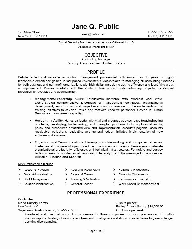 Sample Resume for Federal Job Inspirational Federal Job Resume Samples