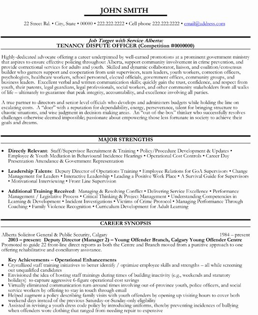 Sample Resume for Federal Jobs New top Government Resume Templates & Samples