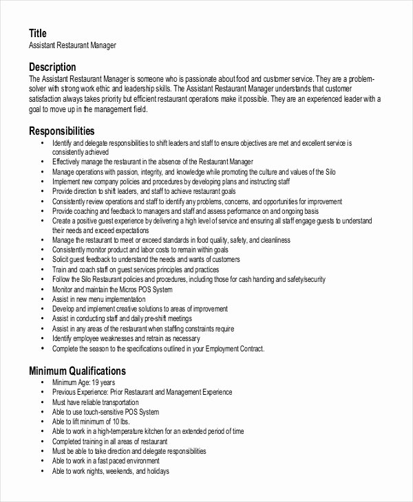Sample Resume for Restaurant Beautiful Creative Restaurant General Manager Resume Sample and