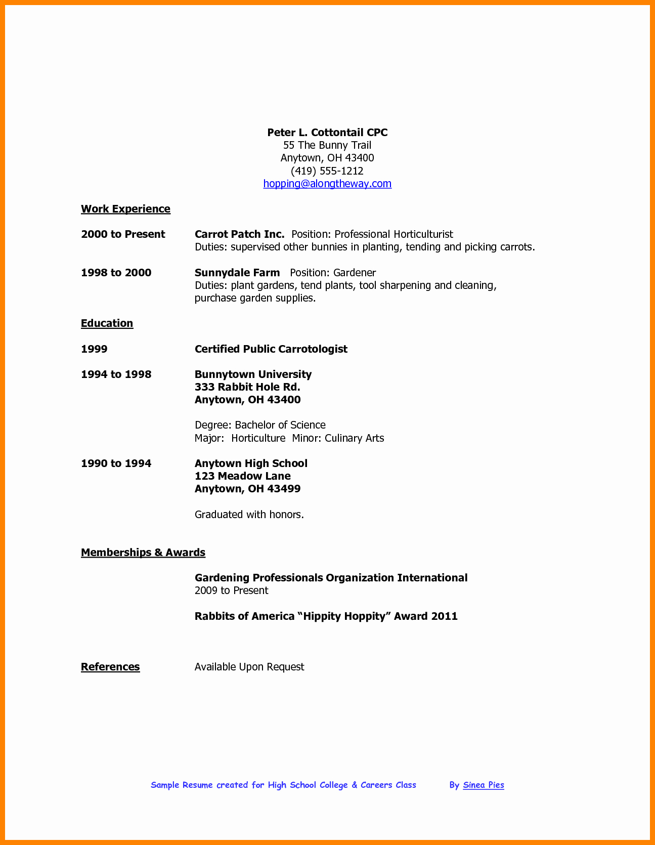 Sample Resume High School Fresh 5 Cv Template for High School Student
