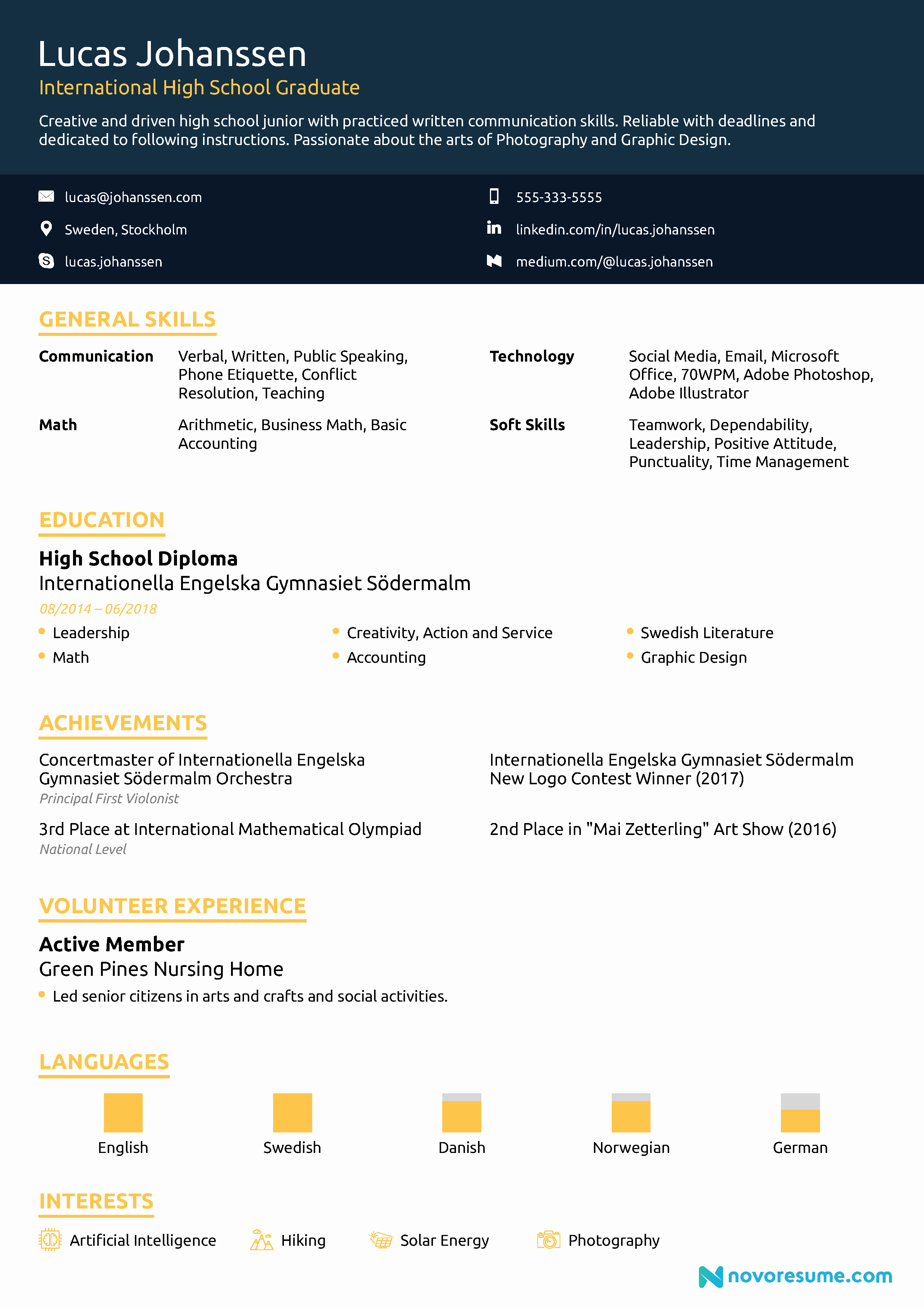 Sample Resume High School New High School Resume [2019] Guide & Examples