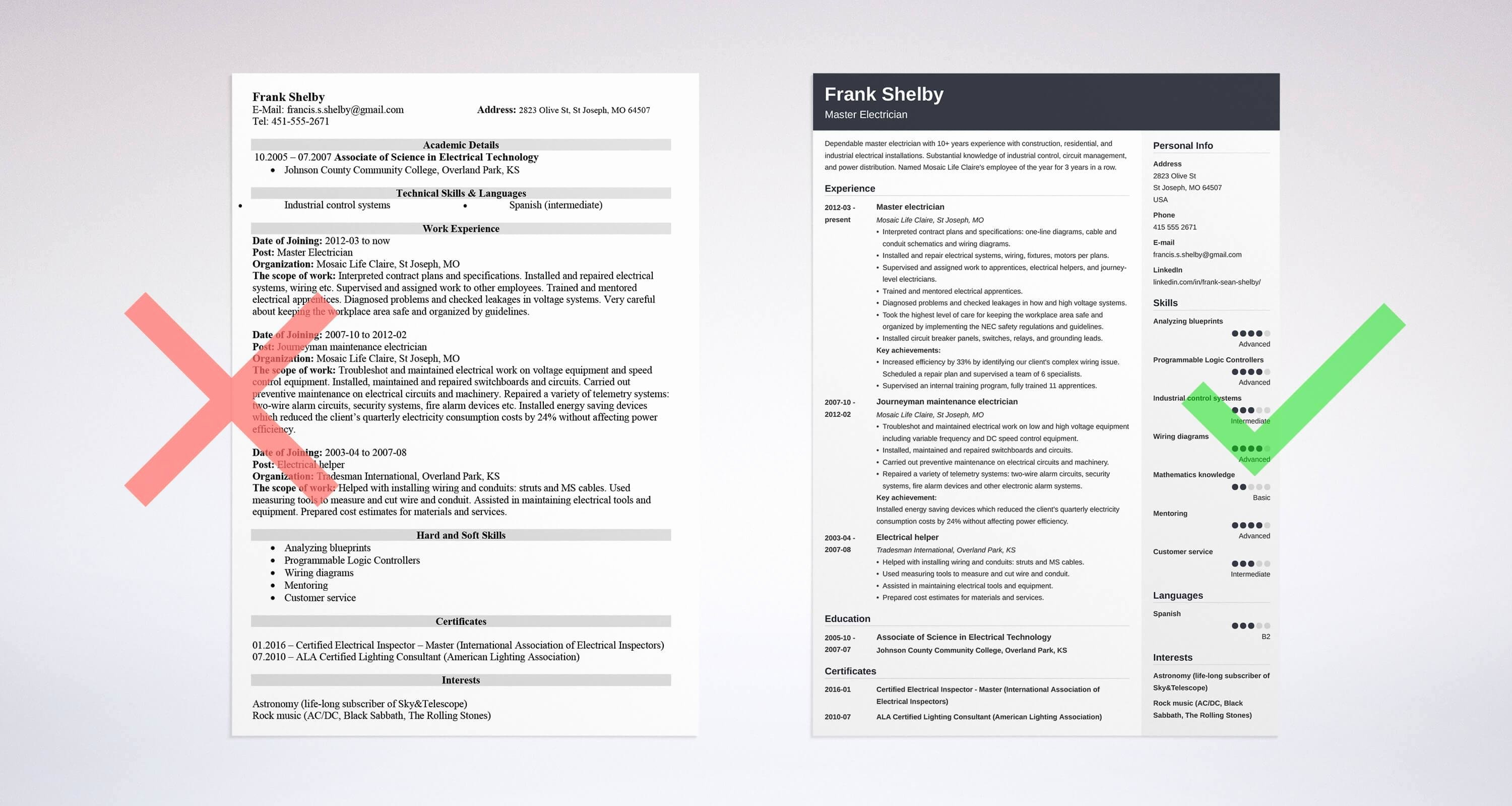 Sample Resumes for Electrician New Electrician Resume Sample & Plete Guide [20 Examples]