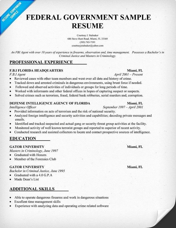 Sample Resumes for Federal Jobs Awesome Federal Government Resume Template Resume Panion