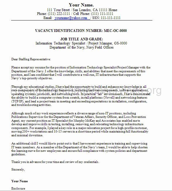 Sample Resumes for Federal Jobs Fresh Federal Cover Letter Sample by Federalresumewr On Deviantart