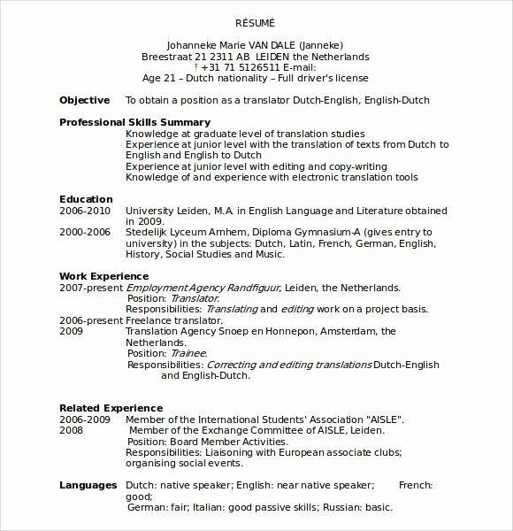 Sample Resumes In Word Beautiful Sample Microsoft Resume 9 Documents In Word
