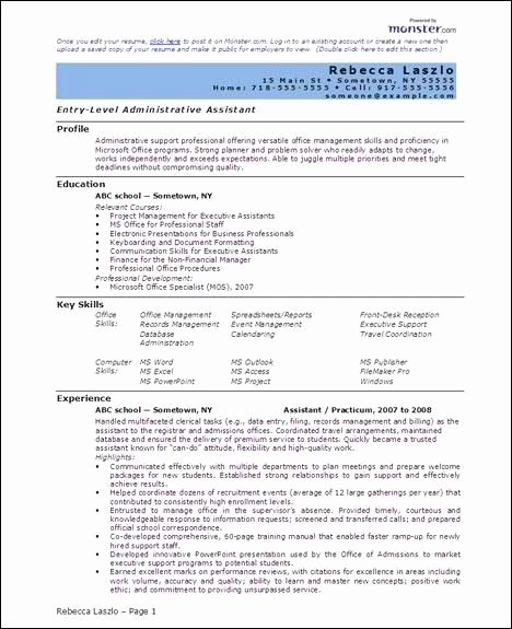 Sample Resumes In Word Unique Free 6 Microsoft Word Doc Professional Job Resume and Cv