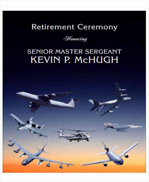 Sample Retirement Party Program Elegant 7 Retirement Program Samples & Templates In Pdf