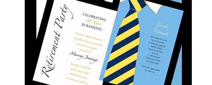 Sample Retirement Party Program Elegant Retirement Invitations Retirement Party Invitations