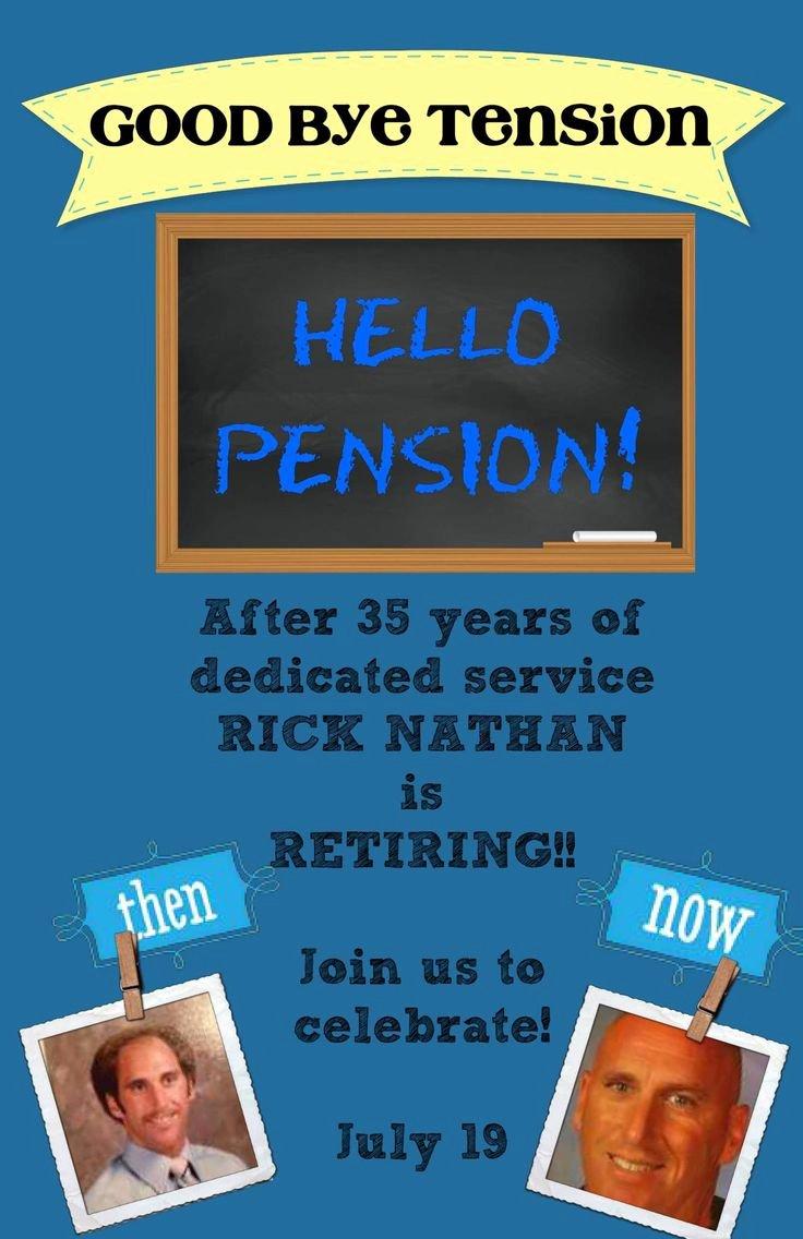 Sample Retirement Party Program Fresh Best 25 Retirement Invitations Ideas Only On Pinterest
