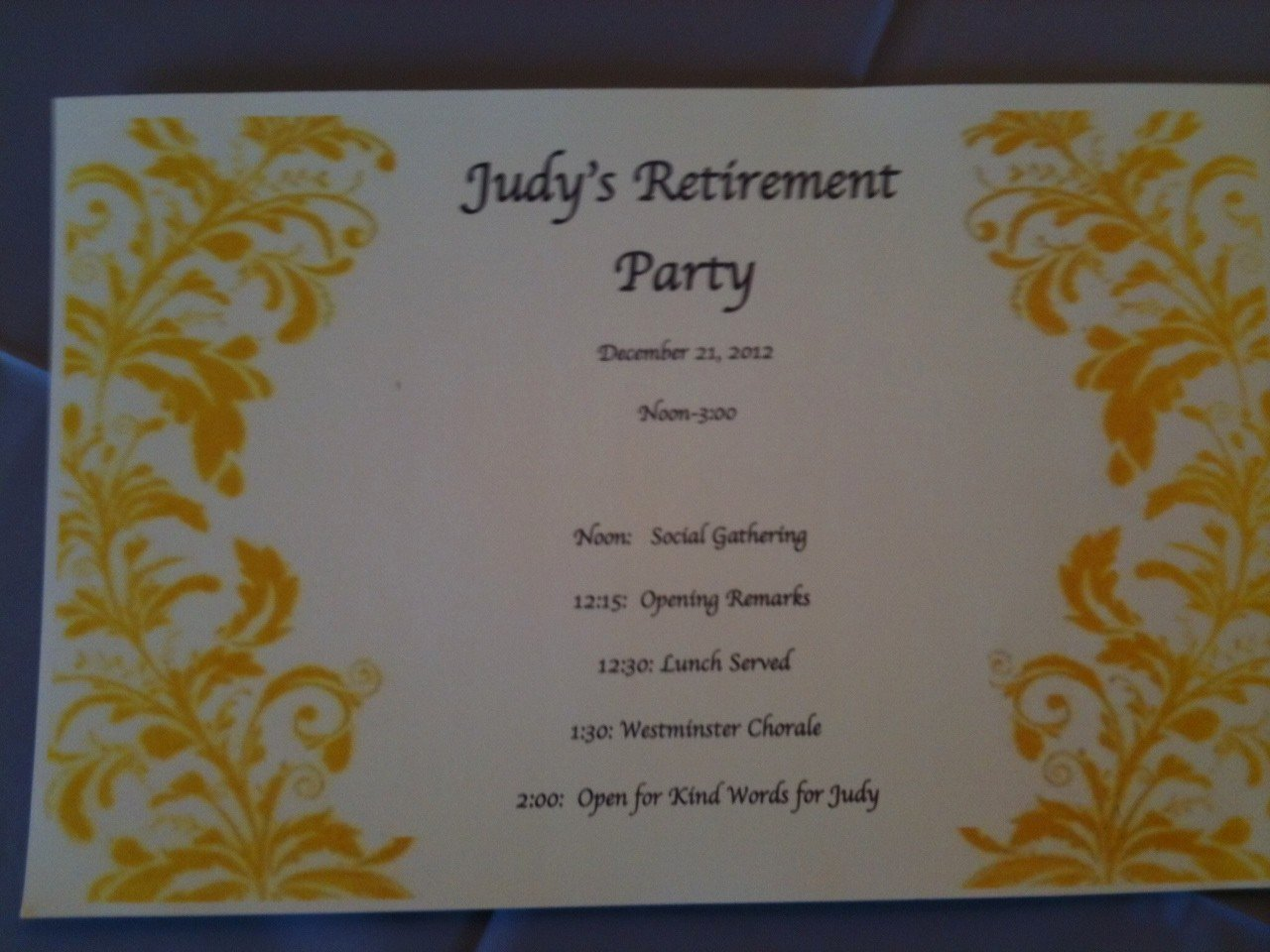Sample Retirement Party Program Luxury 27 Of Retirement Party Planning Template