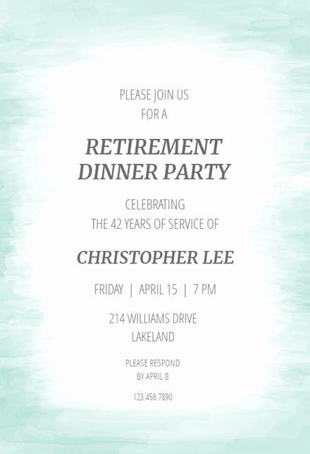 Sample Retirement Party Program New Refined Finish Retirement & Farewell Party Invitation
