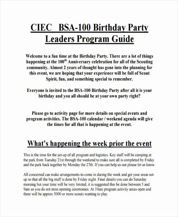 Sample Retirement Party Program Unique Free 17 Party Agenda Examples