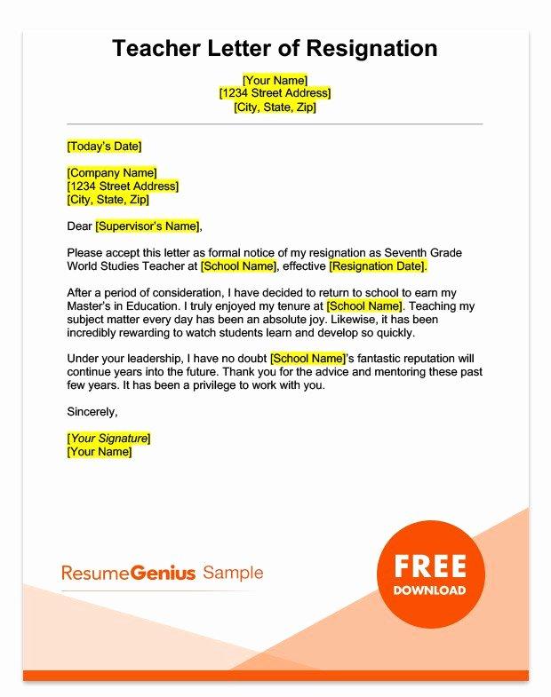 Sample Retirement Resignation Letter Lovely Career Specific Resignation Letters