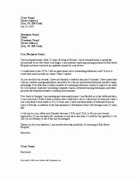 Sample Rn Cover Letter Elegant Application Letter Sample Cover Letter Sample for Rn Position