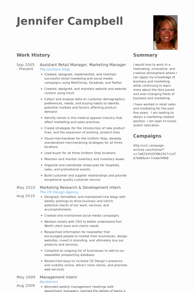Sample Store Manager Resume Fresh Retail Manager Resume