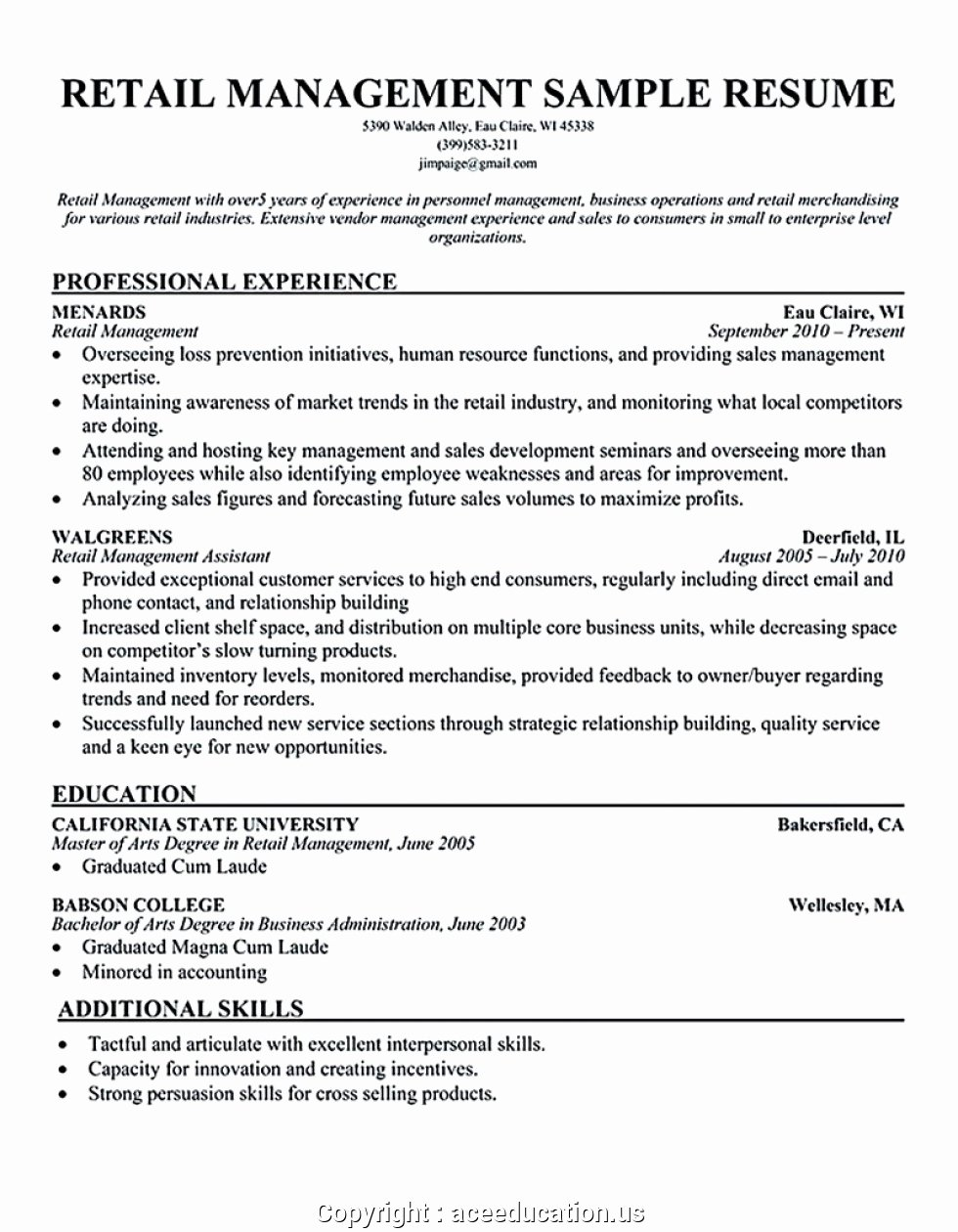 Sample Store Manager Resume Inspirational Creative Clothing Store Manager Resume Example Resume