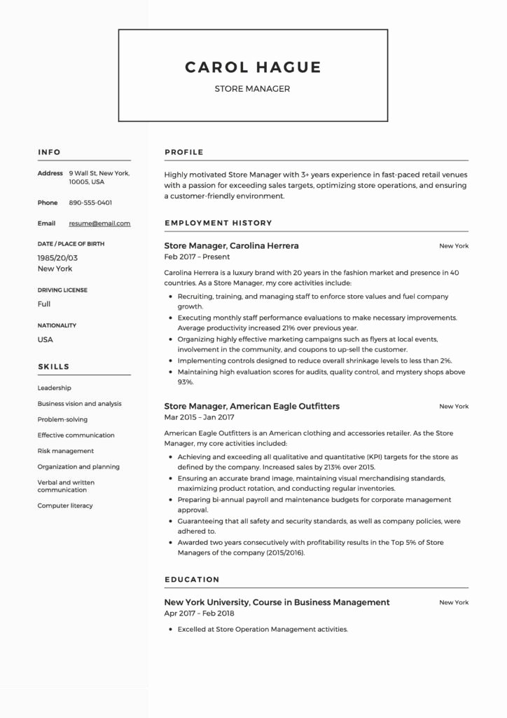 Sample Store Manager Resume Inspirational Store Manager Resume Guide & 12 Resume Samples Pdf