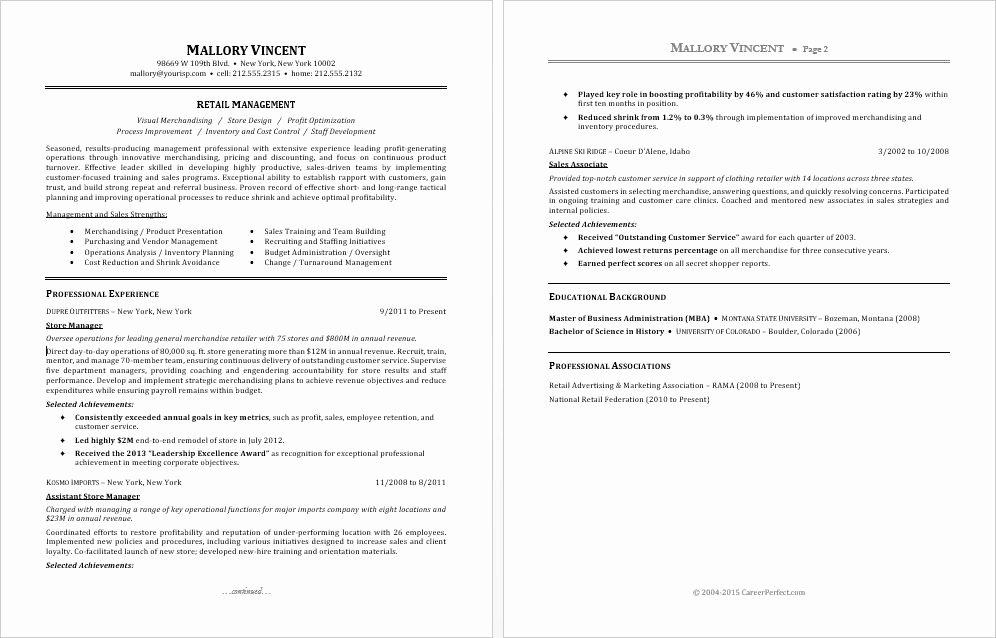 Sample Store Manager Resume Lovely Sample Resume for A Retail Manager