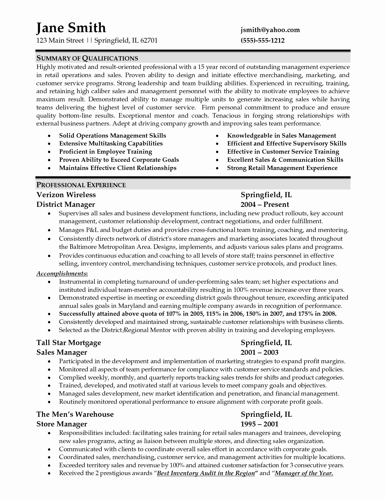 Sample Store Manager Resume Lovely Sample Resume for Retail Management Job