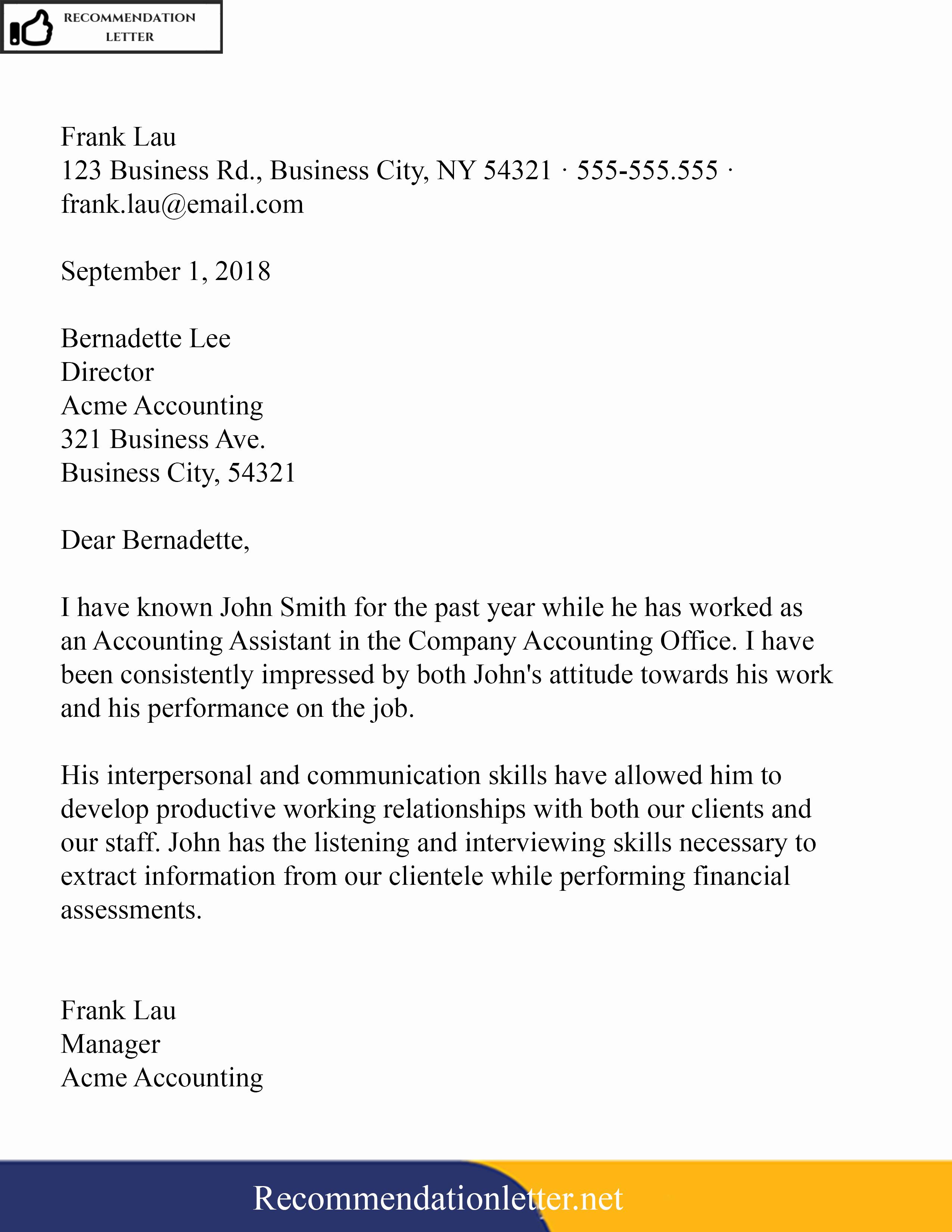 Sample Teacher Recommendation Letter Best Of Sample Template Of Re Mendation Reference Letter for