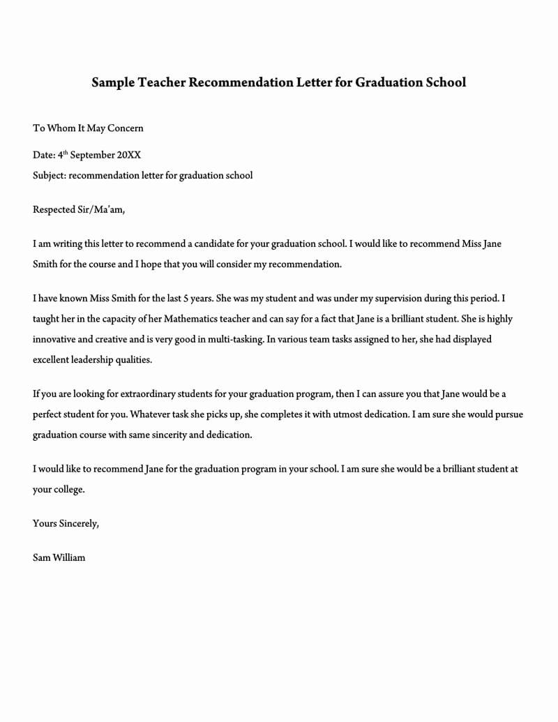 Sample Teacher Recommendation Letter Fresh 10 Sample College Re Endation Letter