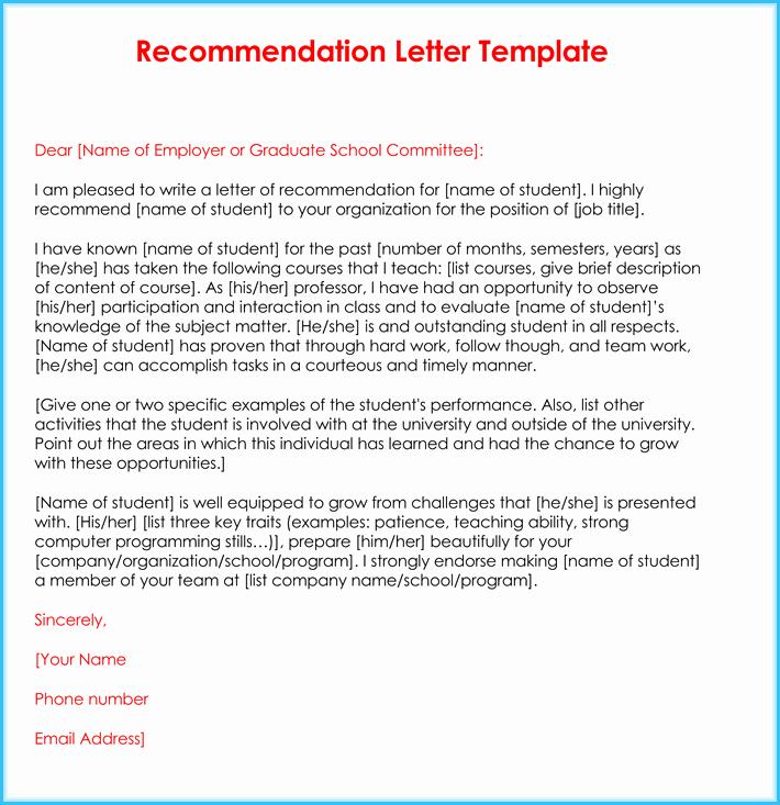 Sample Teacher Recommendation Letter Inspirational Teacher Re Mendation Letter 20 Samples Fromats