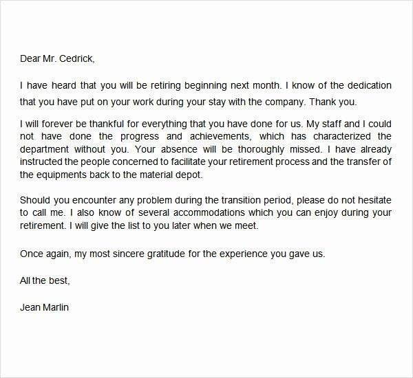 Sample Teacher Retirement Letter New Retirement Letter 17 Download Free Documents In Pdf Word