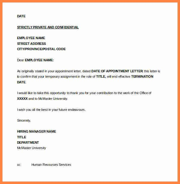 Sample Termination Of Employment Letter Awesome 11 Employment Termination Notice Sample