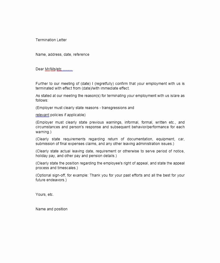 Sample Termination Of Employment Letter Awesome 35 Perfect Termination Letter Samples [lease Employee