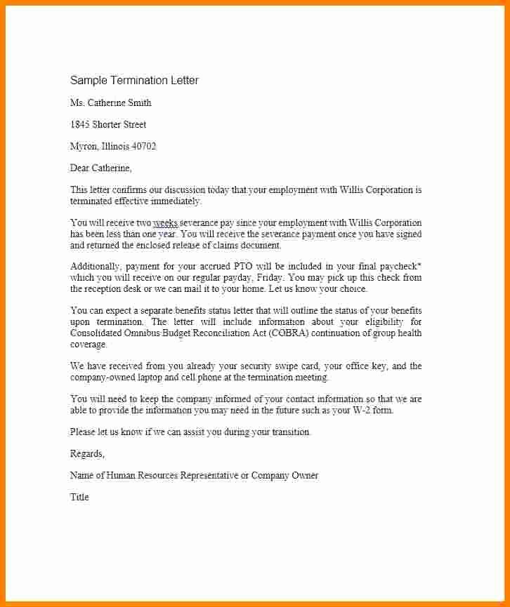 Sample Termination Of Employment Letter Luxury 5 Employment Agreement Letter