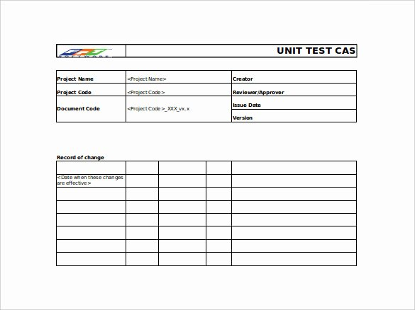 Sample Test Case Document Beautiful 10 Test Case Templates – Free Sample Example format