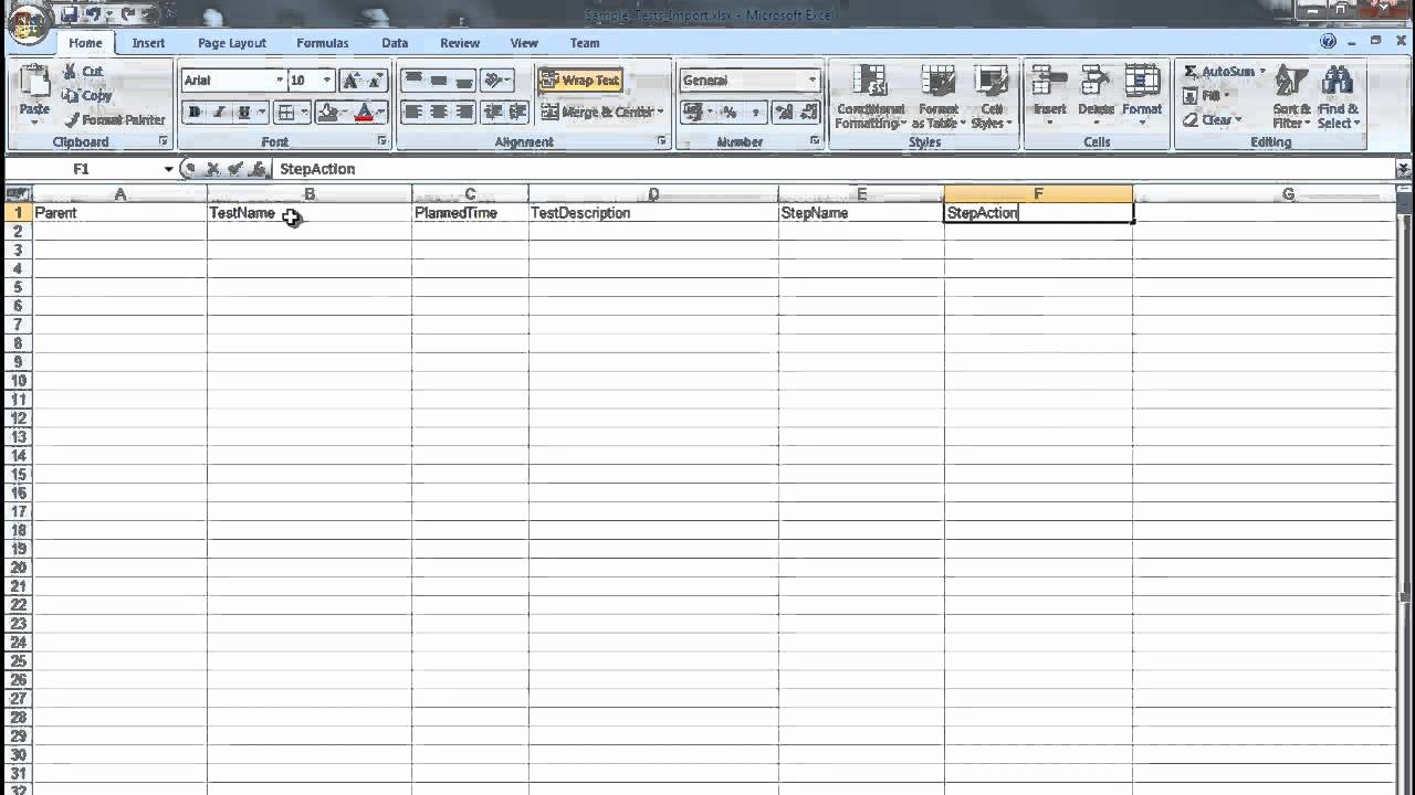 Sample Test Case Document Fresh Creating A Ms Excel Test Plan Document for Importing Into