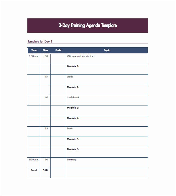 Sample Training Plan Outline Elegant 10 Training Agenda Templates Free Sample Example