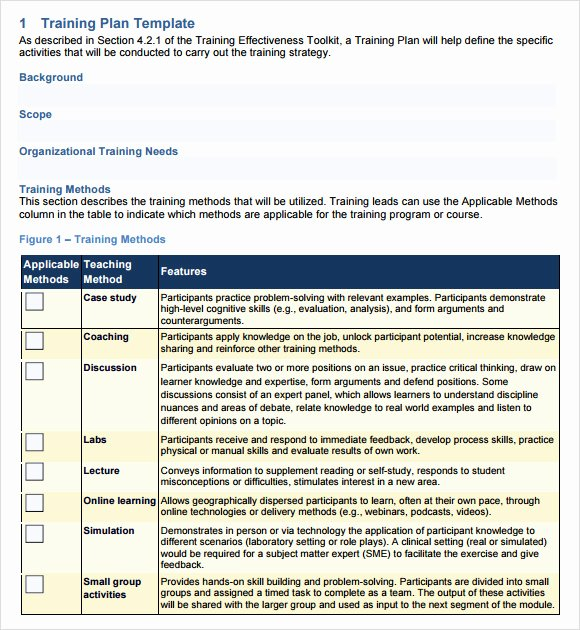 Sample Training Plan Outline Fresh Training Outline Template 9 Download Free Documents In