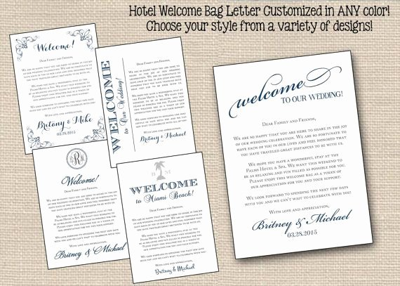 Sample Wedding Welcome Letter Awesome 22 Best Images About W Wedding Wel E Letter & Itinerary