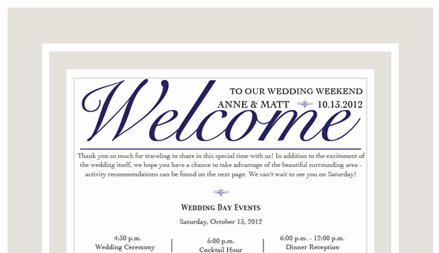 Sample Wedding Welcome Letter Fresh the Wedding is tomorrow Fannetastic Food
