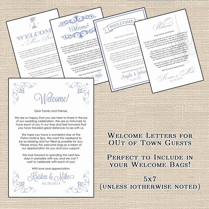 Sample Wedding Welcome Letter Inspirational Hotel Wel E Bag Letters and Wedding by Designsbydvb On